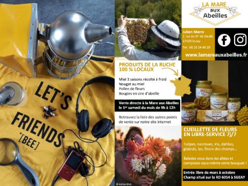 exemples de supports de communication pour la mare aux abeilles