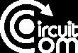 logo blanc de l'agence de communication circuit com